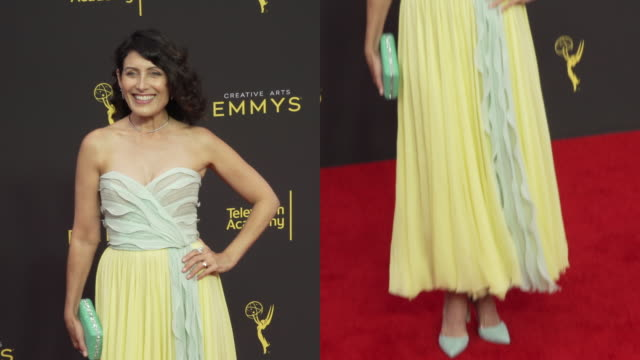 lisa edelstein at the 2019 creative arts emmy awards day 2 - lisa edelstein stock videos and b-roll footage