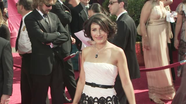 lisa edelstein at the 60th primetime emmy awards at los angeles ca - lisa edelstein stock videos and b-roll footage