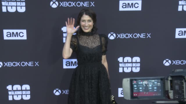Lisa Edelstein at the AMC's The Walking Dead 100th Episode Season 8 Special Premiere Screening at The Greek Theatre on October 22 2017 in Los Angeles...