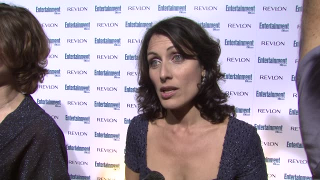 lisa edelstein at the entertainment weekly 6th annual pre-emmy party at los angeles ca. - エミー賞前夜祭パーティー点の映像素材/bロール