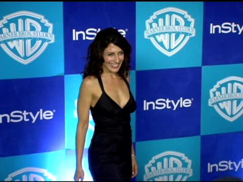 lisa edelstein at the instyle/warner brothers golden globes party at the beverly hilton in beverly hills california on january 16 2006 - lisa edelstein stock videos and b-roll footage