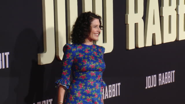 """lisa edelstein at the """"jojo rabbit"""" los angeles premiere presented by fox searchlight pictures in los angeles ca - fox searchlight pictures stock videos & royalty-free footage"""