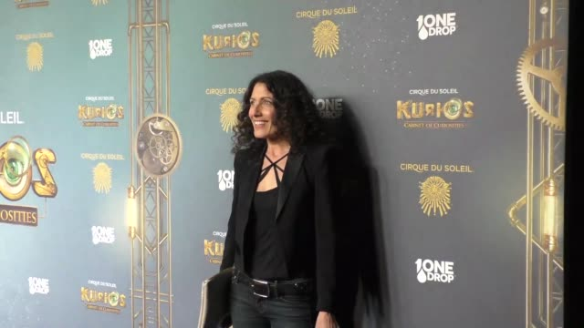 lisa edelstein at the opening night of cirque du soleil's kurios cabinet of curiosities at dodger stadium in los angeles celebrity sightings on... - lisa edelstein stock videos and b-roll footage