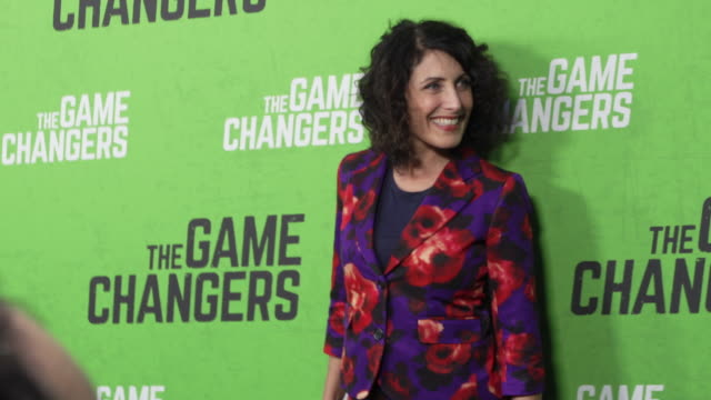lisa edelstein at the premiere of the game changers at arclight hollywood on september 04 2019 in hollywood california - lisa edelstein stock videos and b-roll footage