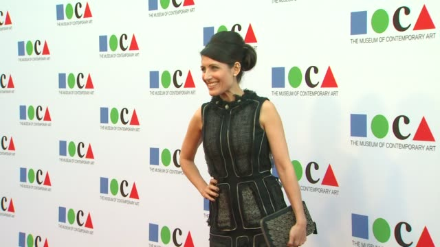 lisa edelstein at yesssss moca gala 2013 celebrating the opening of the exhibition urs fischer on 4/20/13 in los angeles ca - lisa edelstein stock videos and b-roll footage
