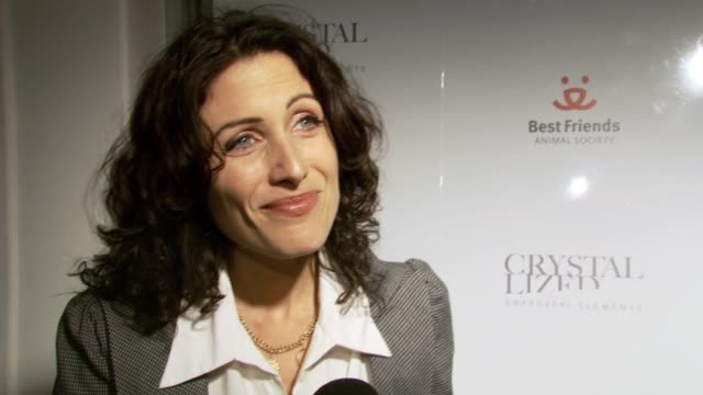 lisa edelstein on attending the event her favorite pet and being an animal advocate at the crystal canine presented by swarovski and la dogworks at... - lisa edelstein stock videos and b-roll footage