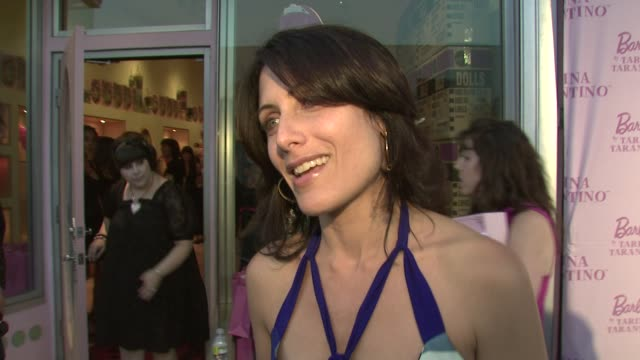 lisa edelstein on the event the jewelry barbie at the tarina tarintino barbie doll launch @ tarina tarintino at los angeles california - lisa edelstein stock videos and b-roll footage