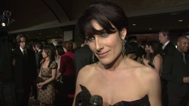 lisa edelstein on why directors deserve to be recognized what she's presenting what she's wearing at the 61st annual dga awards at los angeles ca - lisa edelstein stock videos and b-roll footage