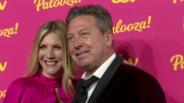 lisa faulkner, john torode at itv palooza at the royal festival hall on november 12, 2019 in london, england. - john torode stock videos & royalty-free footage