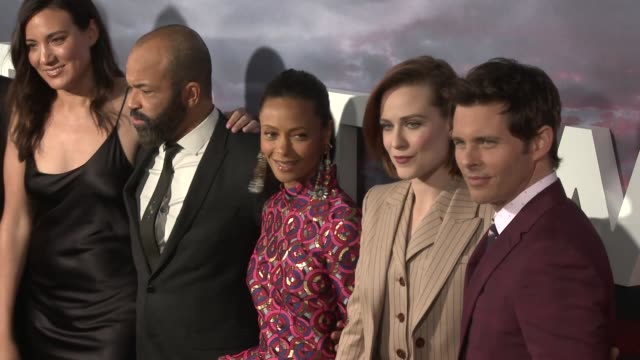 Lisa Joy Jeffrey Wright Thandie Newton Evan Rachel Wood and James Marsden at the 'Westworld' Season 2 Premiere at ArcLight Cinerama Dome on April 16...