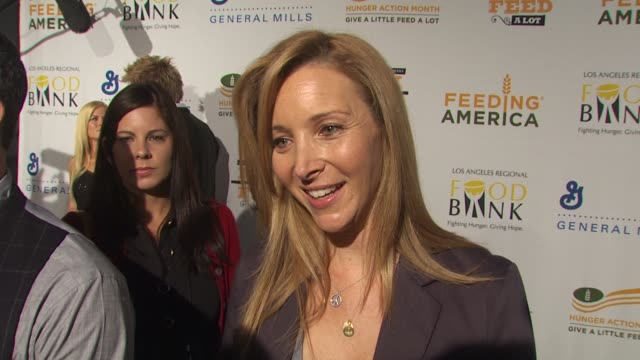 lisa kudrow on being a part of the night, what performance she's most looking forward to, who she's looking forward to seeing at the 'rock a little,... - benefit concert stock videos & royalty-free footage