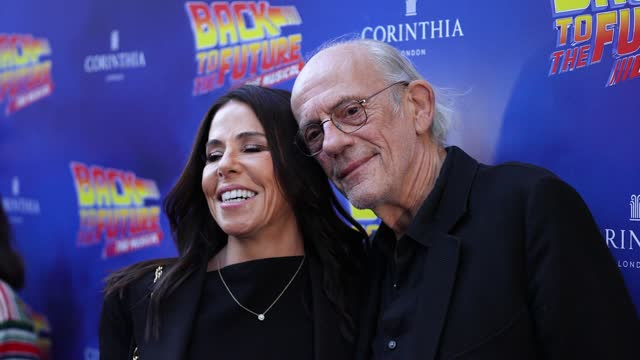 lisa loiacono, christopher lloyd attends the opening of 'back to the future the musical' on september 13, 2021 in london, england. - art and craft stock videos & royalty-free footage