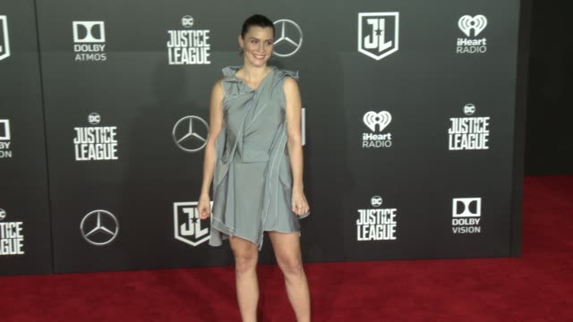 lisa loven kongsli at the justice league world premiere at dolby theatre on november 13 2017 in hollywood california - the dolby theatre stock videos & royalty-free footage