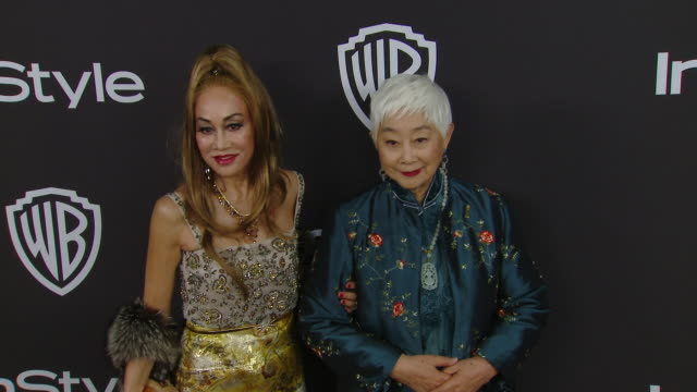 lisa lu and lucia hwong at the warner bros and instyle host 20th annual postgolden globes party at the beverly hilton hotel on january 06 2019 in... - warner bros stock videos & royalty-free footage
