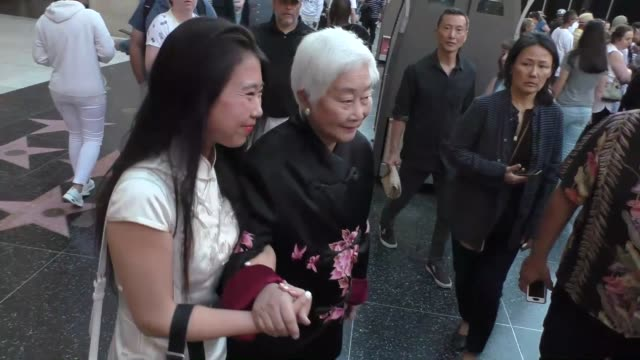 lisa lu & lucia hwong outside the spider-man far from home premiere at tcl chinese theatre in hollywood in celebrity sightings in los angeles, - tcl chinese theatre stock videos & royalty-free footage