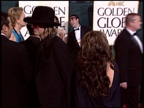 lisa marie presley at the 2005 golden globe awards at the beverly hilton in beverly hills, california on january 16, 2005. - lisa marie presley stock videos & royalty-free footage