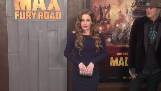 stockvideo's en b-roll-footage met lisa marie presley at the mad max fury road los angeles premiere at tcl chinese theatre on may 07 2015 in hollywood california - tcl chinese theatre