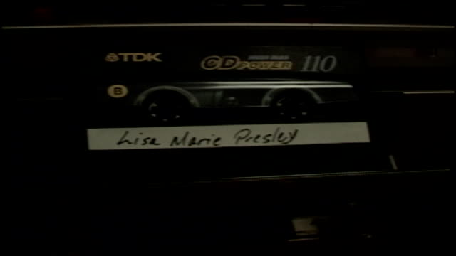 lisa marie presley cassette tape - lisa marie presley stock videos & royalty-free footage