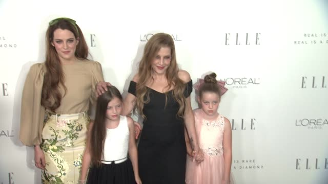 lisa marie presley & riley keough at the 24th annual elle women in hollywood awards on october 16, 2017 in los angeles, california. - lisa marie presley stock videos & royalty-free footage