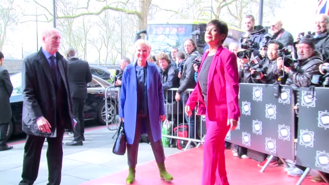 lisa maxwell denise welch at grosvenor house on march 14 2017 in london england - lisa maxwell stock videos and b-roll footage