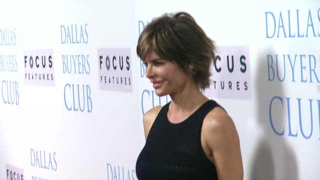 lisa rinna and harry hamlin at dallas buyers club los angeles premiere presented by focus features on 10/17/13 in beverly hills ca - harry hamlin stock videos and b-roll footage