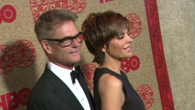Lisa Rinna and Harry Hamlin at HBO's Post 2014 Golden Globe Awards Party at Circa 55 Restaurant on in Los Angeles California