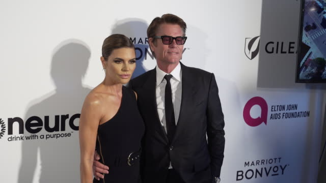 Lisa Rinna and Harry Hamlin at the 27th Annual Elton John AIDS Foundation Academy Awards Viewing Party Sponsored By IMDb And Neuro Drinks on February...