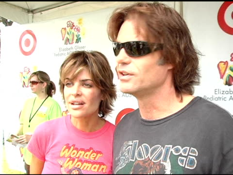 Lisa Rinna and Harry Hamlin on their participation with the Foundation for years at the Target 'A Time For Heros' Celebrity Carnival to Benefit the...