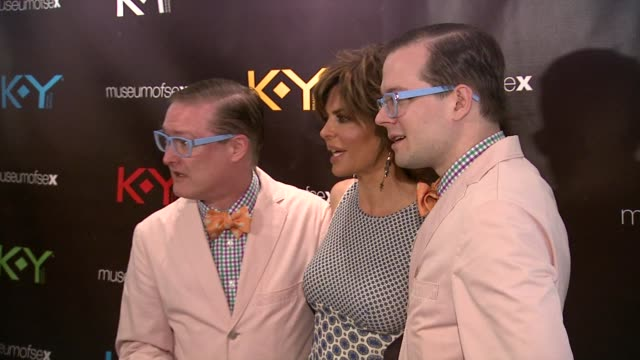 lisa rinna and ipad djs andrewandrew at ky brand celebrates the launch of the big fun sexy sex book with coauthors lisa rinna and dr ian kerner at... - lisa rinna stock videos and b-roll footage