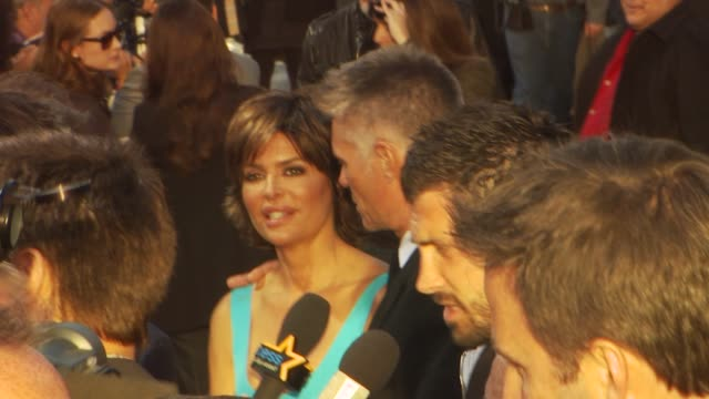 lisa rinna at clash at the 'clash of the titans' premiere at hollywood ca - clash of the titans stock videos & royalty-free footage
