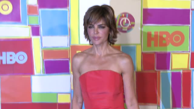 lisa rinna at hbo's official 2014 emmy after party at the plaza at the pacific design center on august 25 2014 in los angeles california - lisa rinna stock videos and b-roll footage