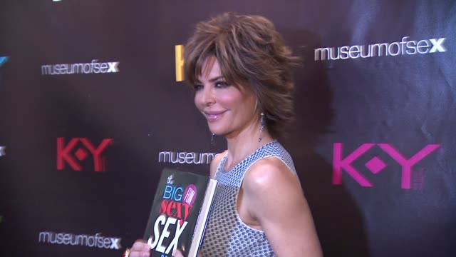 lisa rinna at ky brand celebrates the launch of the big fun sexy sex book with coauthors lisa rinna and dr ian kerner at the museum of sex on in new... - lisa rinna stock videos and b-roll footage