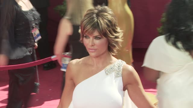 lisa rinna at the 60th primetime emmy awards at los angeles ca - lisa rinna stock videos and b-roll footage