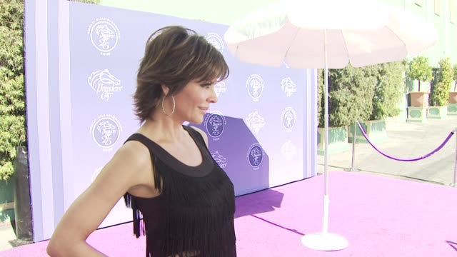 lisa rinna at the breeders' cup world championships day one at los angeles ca. - championships stock videos & royalty-free footage