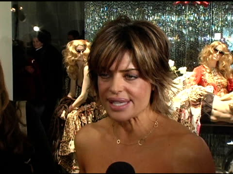 Lisa Rinna at the Unveiling of Roberto Cavalli's Beverly Hills Location at Roberto Cavalli Boutique in Los Angeles California on February 15 2005
