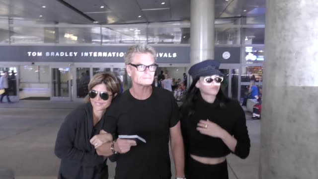 Lisa Rinna Harry Hamlin arriving at LAX Airport in Los Angeles in Celebrity Sightings in Los Angeles