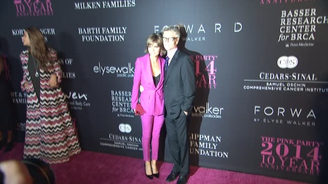 lisa rinna harry hamlin at elyse walker presents the 10th annual pink party® hosted by jennifer garner and rachael zoe to benefit the women's cancer... - harry hamlin stock videos and b-roll footage