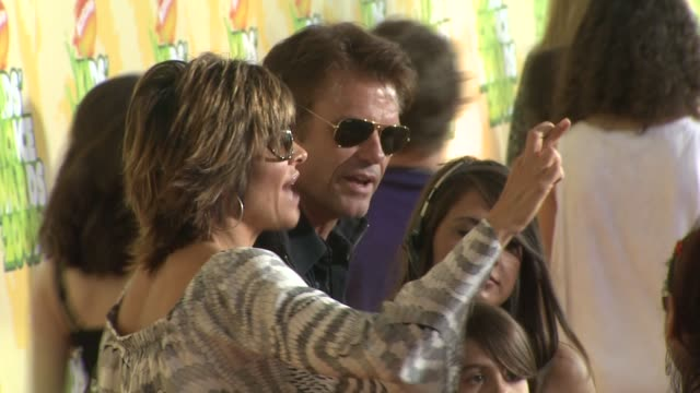 Lisa Rinna Harry Hamlin at the Nickelodeon's 22nd Annual Kids' Choice Awards at Los Angeles CA
