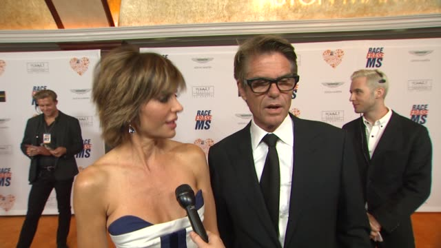 INTERVIEW Lisa Rinna Harry Hamlin on being a part of the night what they're most looking forward to at The 21st Annual Race To Erase MS in Los...