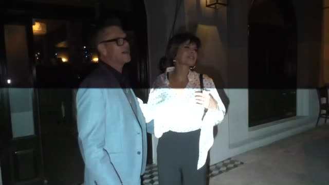 Lisa Rinna joins Harry Hamlin for a dinner date at Craig's in Los Angeles at Celebrity Sightings in Los Angeles on December 07 2018 in Los Angeles...