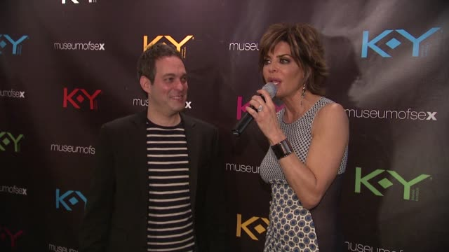 lisa rinna on getting the message out that sex runs the world at ky brand celebrates the launch of the big fun sexy sex book with coauthors lisa... - lisa rinna stock videos and b-roll footage