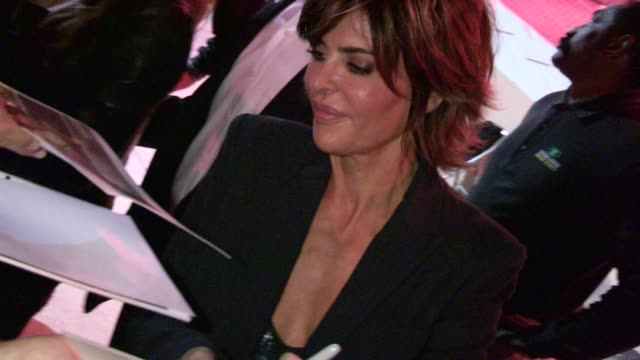 lisa rinna rita wilson greet fans at chicago opening night in hollywood 05/16/12 - lisa rinna stock videos and b-roll footage