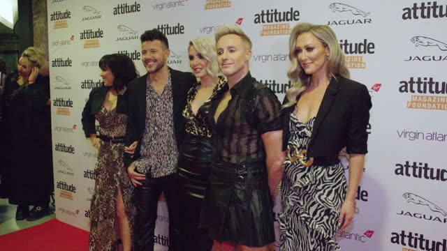 """lisa scott-lee, lee latchford-evans, claire richards, ian """"h"""" watkins and faye tozer from steps attends the virgin atlantic attitude awards 2021 at... - attitude stock videos & royalty-free footage"""