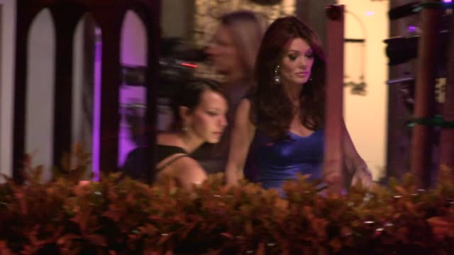 lisa vanderpump and kristen doute on set of vanderpump rules at sur lounge west hollywood at celebrity sightings in los angeles lisa vanderpump and... - west hollywood stock-videos und b-roll-filmmaterial