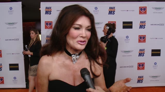 interview lisa vanderpump on being a part of the night what she's most looking forward to at the 22nd annual race to erase ms in los angeles ca - race to erase ms stock videos and b-roll footage