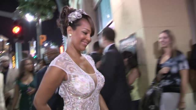 lisaraye arrives at the sparkle after party in hollywood 08/16/12 - lisaraye mccoy stock videos & royalty-free footage