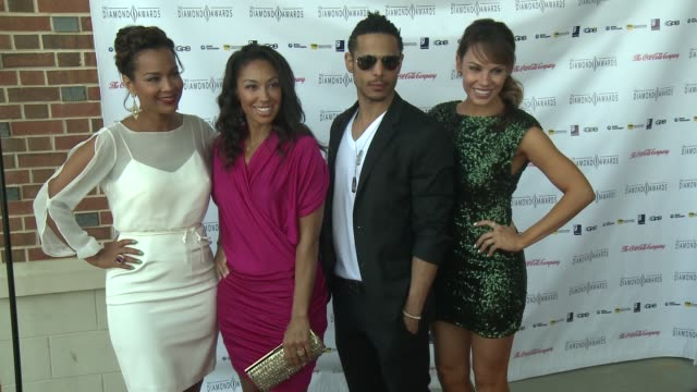 lisaraye mccoy guest travis winfrey and charity shea at the 2012 diamond awards hosted by the not alone foundation on 3/17/2012 in atlanta ga united... - lisaraye mccoy stock videos & royalty-free footage
