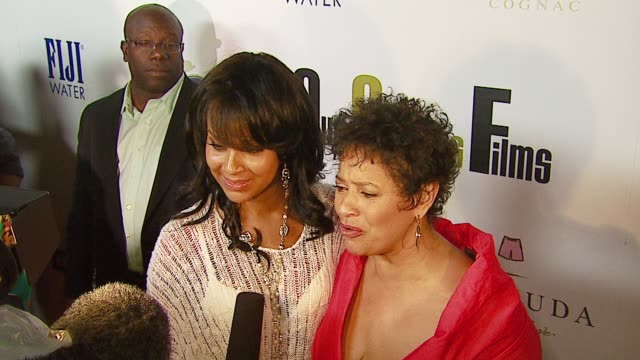 LisaRaye Misick and Debbie Allen at the Our Stories Films Launch at Social Hollywood in Hollywood California on October 10 2006