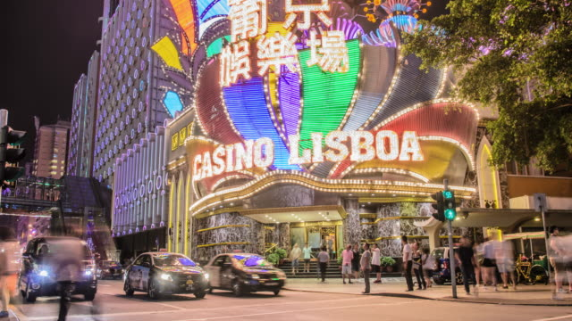 t/l lisboa casino / macau - macao stock videos & royalty-free footage