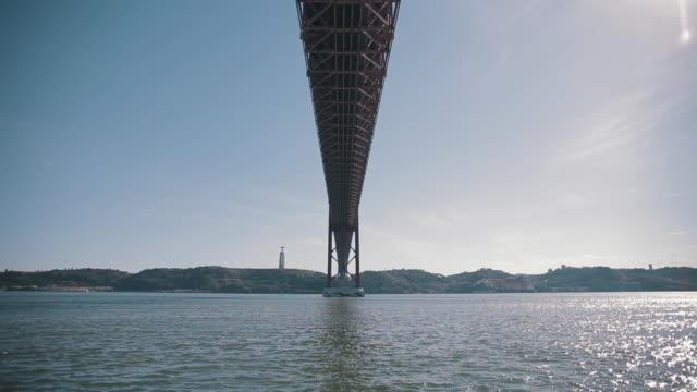 "lisbon 25 april bridge ""ponte 25 de abril"" - 1974 stock videos & royalty-free footage"